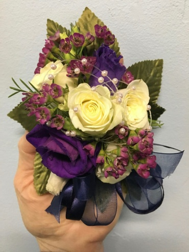 Rose and Lisianthus Corsage