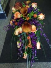 calla lilly and orchid cascade