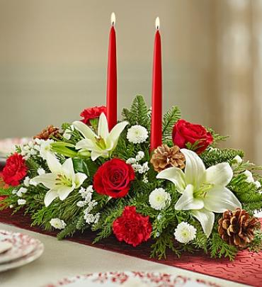 2 candle table centerpiece