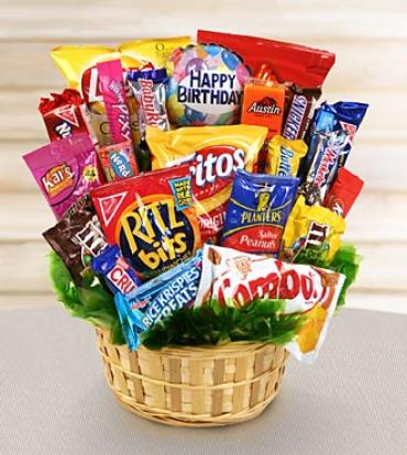 Happy Birthday Snack Attack Basket