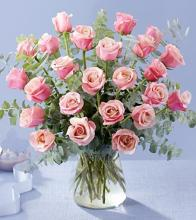 24 Passion Pink Rose Bouquet